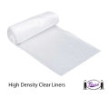 Trash Can Liners, High Density (clear)