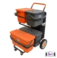 Microfiber Cleaning Cart w/ Buckets
