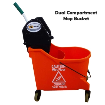 Double Bucket Mop System Dual Compartment Mop System