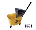 Mop Bucket with Metal Side Press Wringer