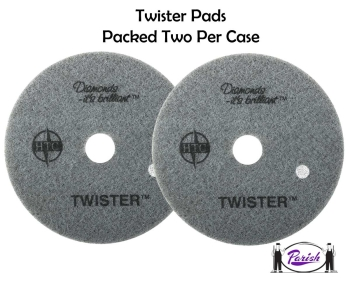 Twister Red Diamond Pads For Restoring Terrazzo Concrete