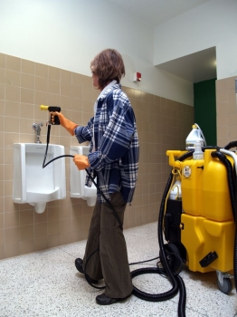 no touch restroom cleaning machine