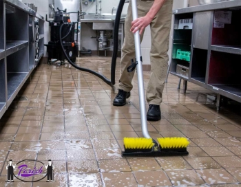 Compact Kitchen Floor Cleaning Machine - Commercial Duty