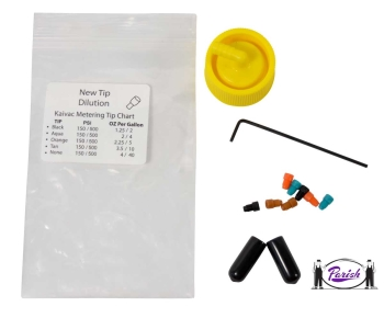 Kaivac Chemical Cap And Metering Tip Kit 14 Different