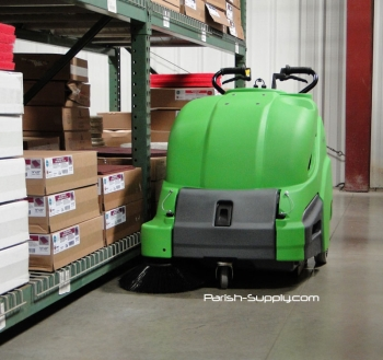 Industrial Warehouse Sweepers 28 Inch Battery Powered