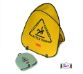 """Folding Safety Cone with """"Caution"""" Imprint"""
