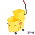 WaveBrake Side Press Mop Bucket Combo, Yellow