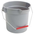 10 Quart Plastic Pail (Gray & Red)