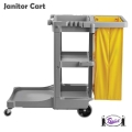 Janitor Cart (Gray / Yellow)