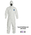 Tyvek Hooded Coveralls (Large - 4X)
