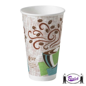 Insulated Hot Paper Cups - Dixie Perfect Touch