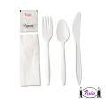 Plastic Cutlery Set  with Salt & Paper (white)