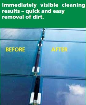 HiFlo Solar Panel Washing Pole Before and After Photo