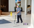 Cleaning Floors with MicroFiber