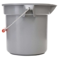 14 Quart Plastic Pail (Gray & Red)