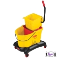Mop Bucket with Quiet Trolley (7680)
