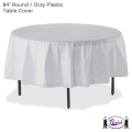 Plastic Table Cover, Round (84 in.)
